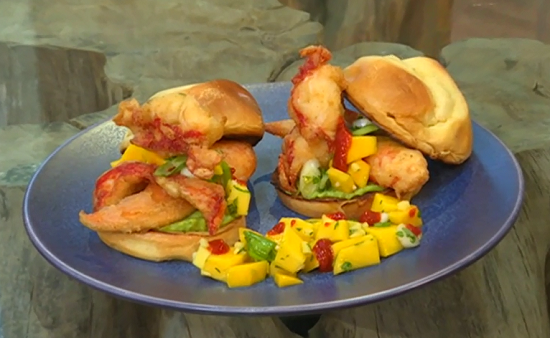 Matt Tebbutt's mango and lobster with avocado rolls on Saturday Kitchen