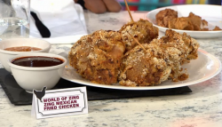 Zing Mexican fried chicken with coffee BBQ sauce on Sunday Brunch