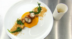 Giovanna's  roast rabbit dish on MasterChef 2017 UK