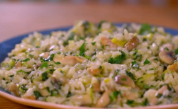 Matt Tebbut's risotto with frozen spinach on Save Money: Good Food