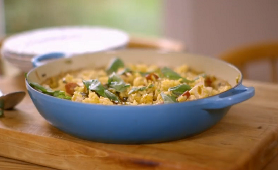 Matt Tebbutt's chicken and saffron risotto recipe on Save Money: Good Food
