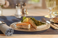 Mary Berry's  smoked salmon with herbs and horseradish pate starter on Mary berry Everyday