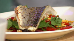 Simon Rimmer's sea bass with raw vegetables on Sunday brunch