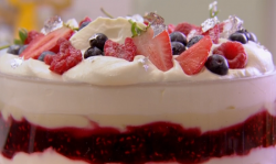 John Whaite's  sherry trifle on Chopping Block