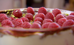 Natalie and Bita's sherry trifle with chocolate on Chopping Block