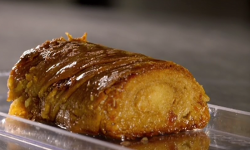 Macalis tahini dessert with filo pastry on Paul Hollywood City bakes in Cyprus