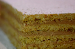 Paul Hollywood vínarterta (Biscuit Layer Cake) with oatmeal and chocolate butter cream on City B ...