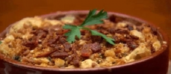 Samuel's cauliflower and cheese macaroni bake with gremolata and parmesan on Masterchef Au ...