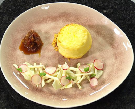 Eliza Wilson's Twice Baked Cauliflower Souffles on Masterchef Australia 2017