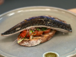 Paul Ainsworth's barbecue mackerel on toast on Yes Chef