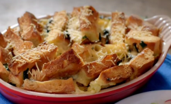 Paul Hollywood savoury bread and butter pudding recipe on City Bakes