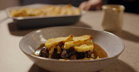 Simon Rimmer's bread and butter pudding with Earl Grey tea on Eat the Week with Iceland