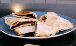Matt Tebbutt's  sweet calzone dessert on Save Money: Good Food