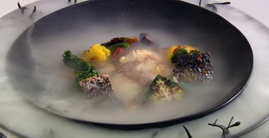 Ellis Barrie's You cannot be serious! It was on the line fish dish on the Great British Menu