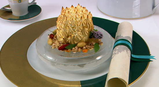 Paul's Captain's Trophy dessert on the Great British Menu