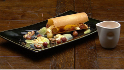Ray's Cheese Mousse with Sweet and Sour Grapes on Masterchef Australia