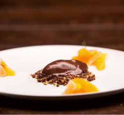 Diana's chocolate and orange dessert on Masterchef Australia