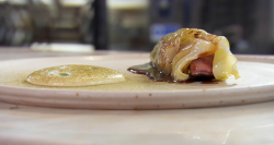 Sat Bains duck with cabbage, pine and thyme dish on Masterchef 2017 UK