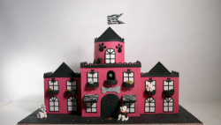 Eloise's dog hotel cake on Extreme Cake Makers