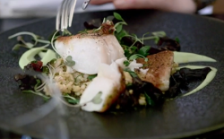 Aggie's cod with deep fried fish skin on Raymond Blanc: How to Cook Well