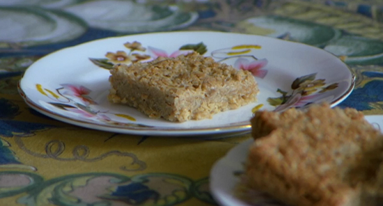 Enid Wheeler's flapjack on Countryfile