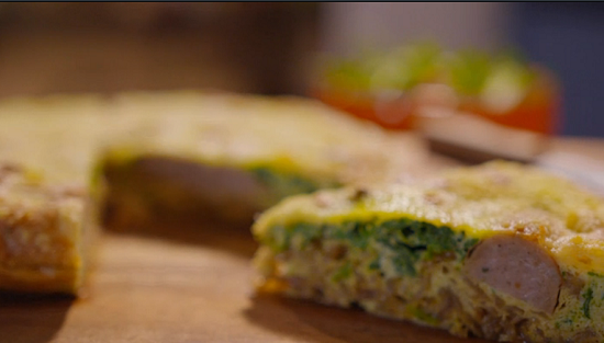 Simon Rimmer's sausage frittata on Eat the Week with Iceland