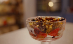 Simon Rimmer's granola fruit crumble on  Eat the Week with Iceland
