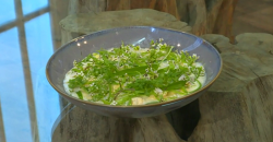 Pam Brunton Gnocchi with Scottish halibut and broad beans recipe on Saturday Kitchen