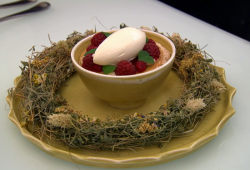 Tommy's Hay Time dessert on the Great British Menu