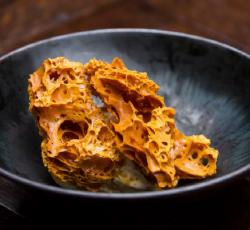Lauren's honeycomb with crème fraiche ice cream on Masterchef Australia