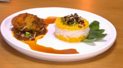 Iranian chicken with jam dish on Yes Chef