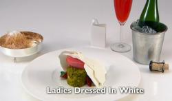 Selin 's Ladies Dressed in White dessert on the Great British Menu