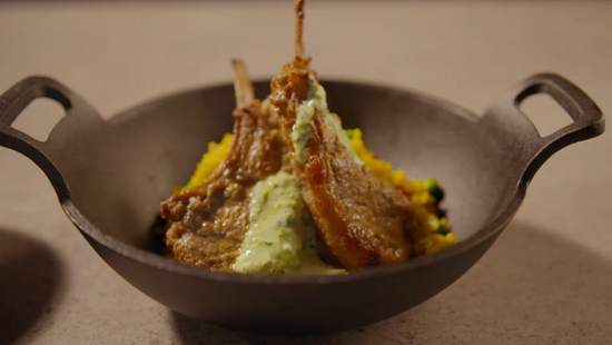 Simon Rimmer biryani with cod and lamb chops on Eat the Week with Iceland