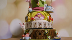 Molly Robins Mad Hatter Lemon Madeira Cake donated to charity and raised £1300 on Extreme Cake M ...