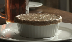 Dominic Chapman's hair and  trotters pie at The Royal Oak pub on The Hairy Bikers' B ...