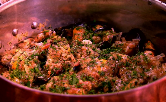 Elizabeth David's moules a la bordelaise on the Hairy bikers Best Of British