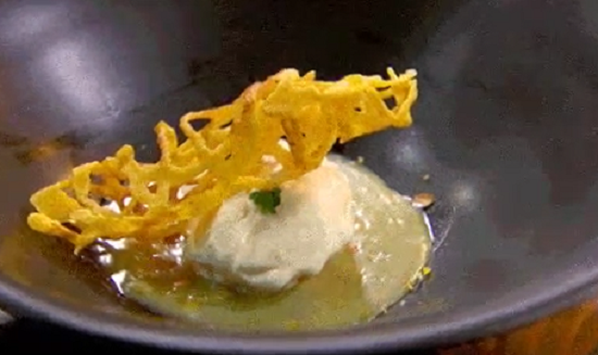 Sarah's coconut and Lemon Ice Cream with a Lemon Sauce on Masterchef Australia 2017