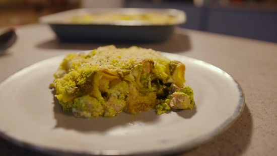 Simon Rimmer's salmon and prawn cannelloni with pesto on Eat the Week with Iceland