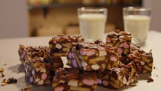 Simon Rimmer's rocky road dessert on Eat the Week with Iceland