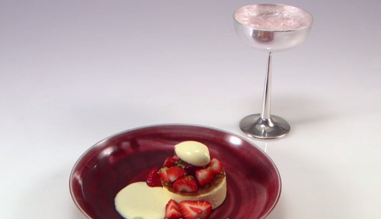 Tom Brown sevi and leti strawberry dessert on the Great British menu
