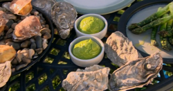 Paul Ainsworth's Spring feast of oysters with asparagus and seaweed on Countryfile