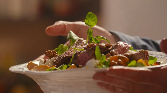 Simon Rimmer roasted squash steak salad on Eat the Week with Iceland