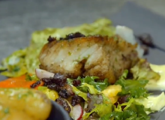 Eric's Norwegian stock fish dish on Paul Hollywood City Bakes