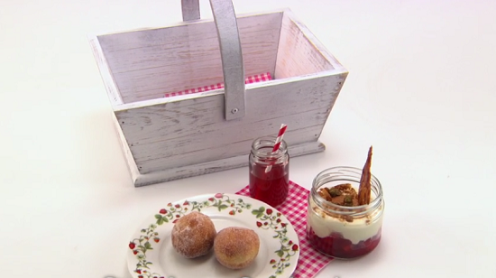 Dominic Chapman strawberry sundancing dessert on the Great British Menu