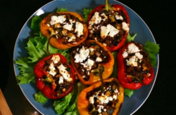 Matt Tebbutt's stuffed peppers with feta cheese and olives Save Money: Good Food