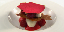 Tom's From The Hedgerows dessert on the Great British Menu