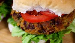 Matt Tebbutt veggie burgers with kidney beans on Save Money: Good Food