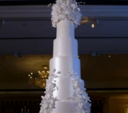 Karisha's Floral Wedding Cake on Extreme Cake Makers
