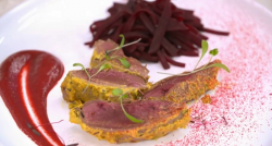 Atul Kochhar's pickled pigeon dish on Yes Chef