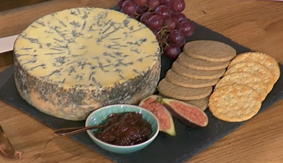 Alex James creamy blue cheese on This Morning